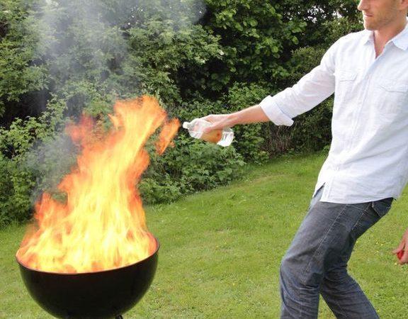 Grill sikkert med gas og kul